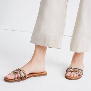 Madewell The Tracie Crisscross Slide Sandal Snake